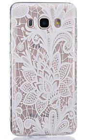 rosa branca padrão pintado caso de material TPU telefone para Galaxy j1 / j1ace / J120 / J2 / J3 / J5 / J510 / J7 / G360 / G530 / G850