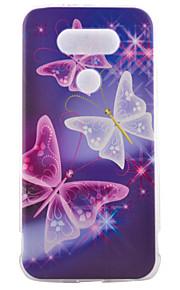 TPU materiaal half vlinder geschilderd patroon zachte telefoon geval voor asus zenfone lg g5