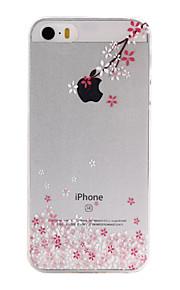 material de TPU sussurrando padrão caixa do telefone fino para iphone SE / 5s / 5