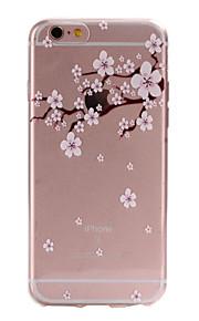 TPU material de flor de pêssego padrão caixa do telefone fino para 6s iphone plus / 6 plus / 6s / 6