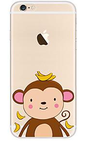 kakashi schattige dieren patroon TPU schilderij zachte hoes voor de iPhone 6s / 6 / 6s plus / 6 plus (aap)