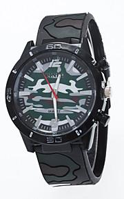 גברים לנשים שעוני ספורט שעוני שמלה שעוני אופנה שעון יד Chinese קווארץ סיליקוןריצה להקה מזל יום יומי יצירתי צבעוני לבן אדום ירוק כחול