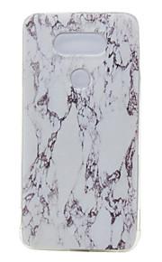 TPU dunne transparante marmer voor lg g5 / K7