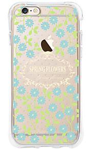 kakashi bloempatroon TPU schilderij airbag Hoogte- zachte hoes voor de iPhone 6s / 6 / 6s plus / 6 plus (blauwe bloem)