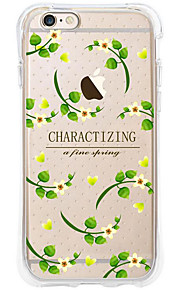 kakashi bloempatroon TPU schilderij airbag Hoogte- zachte hoes voor de iPhone 6s / 6 / 6s plus / 6 plus (wijnstok bloemen)