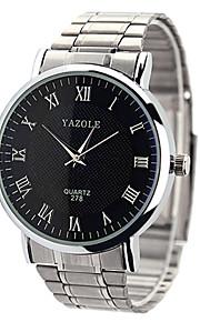 Mulheres Relógio Elegante Quartz Relógio Casual Aço Inoxidável Banda Relógio de Pulso Prata