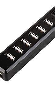 USB 2.0 7 puertos / concentrador USB interfaz de encendido / apagado 11 * 5.5 * 2.5