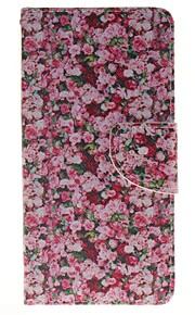 цветочный держатель карты бумажник PU кожаный чехол для телефона Huawei P9 / p9lite