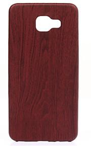 madeira ajuste fino fino e caixa do telefone de couro confortavelmente suave para galáxia A310 / A510 / A710 (2016)
