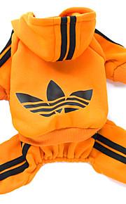 猫用品 / 犬用品 パーカー レッド / ブラック / ピンク / オレンジ 冬 / 春/秋 スポーツ ファッション-Lovoyager
