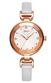Mulheres Relógio de Moda Quartz Couro Banda Preta / Branco / Vermelho / Marrom / Rosa marca