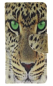 Yellow Tiger Card Holder Wallet PU Leather Phone Case for Huawei P9/P9lite