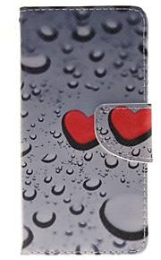 сердцевидные капли воды держатель карты бумажник PU кожаный чехол для телефона Huawei P9 / p9lite