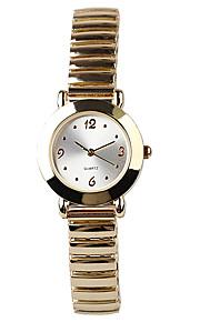 ouro elegante mulheres generosas simples relógio de quartzo banda elástica