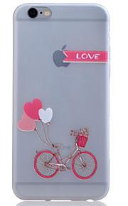 TPU lyser i mörkret genomskinliga cykel lättnad mjukt skydd ringer fallet för iphone 6 / 6s / 6 plus / 6s plus