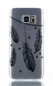 Custodia Feather modello TPU materiale di telefono per Galaxy S4 / s4mini / S6 / S6 bordo / bordo S6 plus / S7 / bordo s7