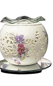 keramikk hul aromaterapi olje aroma lamper keramisk duft med justering bryter