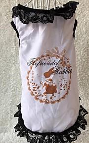 犬用品 Tシャツ ホワイト 冬 / 夏 / 春/秋 クラシック / アニマル 結婚式 / クリスマス / バレンタインデー / ファッション-Lovoyager