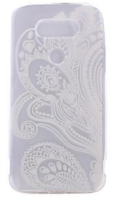 ASUS zenfoneのLGのG5用TPU素材の半分の花塗装パターンソフトフォンケース