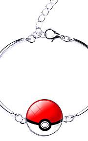 Unisex Pocket Monster Poke Ball Cartoon Pattern Alloy Bracelet