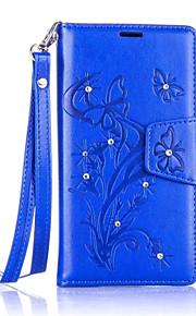 Cuerpo Completo billetera / con el soporte Flor Cuero Sintético Duro Dandelions    Diamond Cubierta del caso para NokiaNokia Lumia 650 /