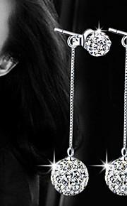 Circle Shape,Smykker 1 par Imiteret Perle / Moderigtig / Yndig Sølv Perle / Legering Party / Daglig