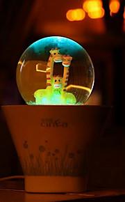 (2pcs padrão aleatório) feliz usb vaso de luz colorida noite