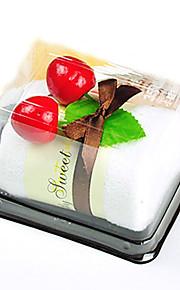 schonere swiss roll cake-vormige handdoek nep dessertcake decor bruiloft gunsten (willekeurige kleur)