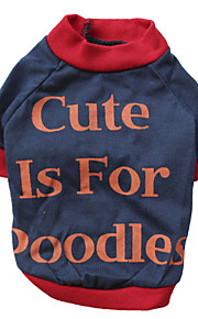 Gatos / Perros Camiseta Rojo / Naranja Verano Flores / Botánica Moda, Dog Clothes / Dog Clothing-Other