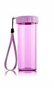 copo de água portátil de plástico