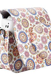Flower PU Leather Case Bag for Fujifilm Instax Mini 8 Instant Film Camera, White