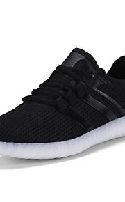 Zapatos de Hombre-Bailarinas-Exterior / Casual / Fiesta y Noche-Tul-Negro / Rojo / Blanco / Gris