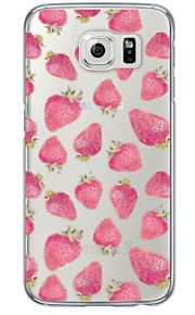 Strawberry Pattern Soft Ultra-thin TPU Back Cover For Samsung GalaxyS7 edge/S7/S6 edge/S6 edge plus/S6/S5/S4