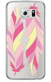 Pink Feathers Pattern Soft Ultra-thin TPU Back Cover For Samsung GalaxyS7 edge/S7/S6 edge/S6 edge plus/S6/S5/S4