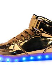 Zapatos de Hombre-Bailarinas-Exterior / Casual / Fiesta y Noche-PU-Rojo / Plata / Oro