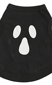Katte / Hunde T恤衫 Sort Sommer / Forår/Vinter Halloween Halloween, Dog Clothes / Dog Clothing-Other
