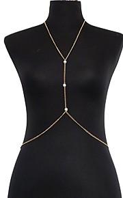Kropskæde Imiteret Perle / Guldbelagt Sexy / Bikini / Imiteret Perle Gylden Smykker,1pc
