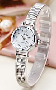 לנשים שעון יד / שעון צמיד קווארץ שעונים יום יומיים סגסוגת להקה מדבקות עם נצנצים / מזל כסף / זהב מותג-