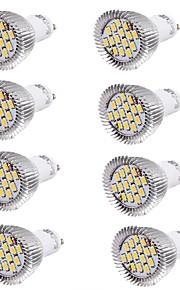 7W GU10 LED-spotpærer MR16 15 SMD 5630 700 lm Varm hvit / Kjølig hvit Dekorativ AC 85-265 / AC 220-240 / AC 100-240 V 8 stk