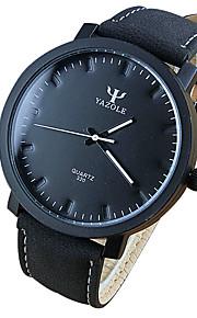 Unissex Relógio de Moda / Relógio de Pulso Quartz Relógio Casual PU Banda Legal Preta / Marrom marca