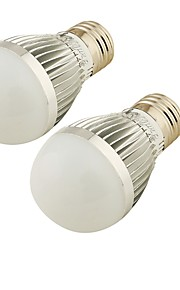5W E26/E27 LED-globepærer A60(A19) 6 SMD 2835 300 lm Kjølig hvit Dekorativ / Dimbar AC 220-240 V 2 stk.