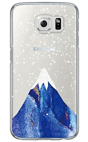 Snow Mountain Pattern Soft Ultra-thin TPU Back Cover For Samsung GalaxyS7 edge/S7/S6 edge/S6 edge plus/S6/S5/S4
