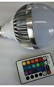 10W E26/E27 LED-globepærer G80 1 Høyeffekts-LED 700-900 lm RGB Fjernstyrt AC 85-265 V 1 stk.