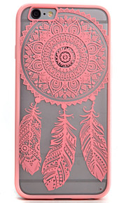 Retro Flower Pattern Openwork Relief Printing Thin PC Material Phone Case for iPhone 5/5S/SE/6/6S/6 Plus/6S Plus