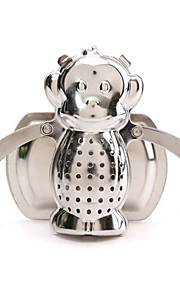 Stainless Steel Home Drinking Tools Monkey Shape Tea Leaf Infusers Lovely Strainer Filter Tea Diffuser