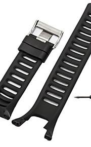 Noir / Gris / Orange Caoutchouc durable Bracelet Sport Pour Suunto Regarder 24mm