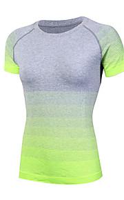Hardlopen Sweatshirt / T-shirt Dames Korte Mouw Ademend / Sneldrogend / Zweetafvoerend / Compressie Yoga / Fitness / Hardlopen Sportief