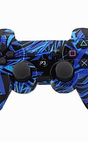 ג'ויסטיק Bluetooth האלחוטית SIXAXIS dualshock3 gamepad בקר נטען ל PS3 (ססגוניות)