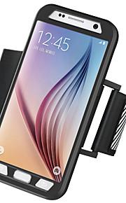 Armbindel Armbindel Solid Färg PC Hård Armband Phone Case Combo+Night Warning Light Fallet täcker för Samsung Galaxy S7 edge / S7