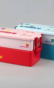 niños de la marca yeeyoo caja de almuerzo Bento doble capa de plástico escuela
